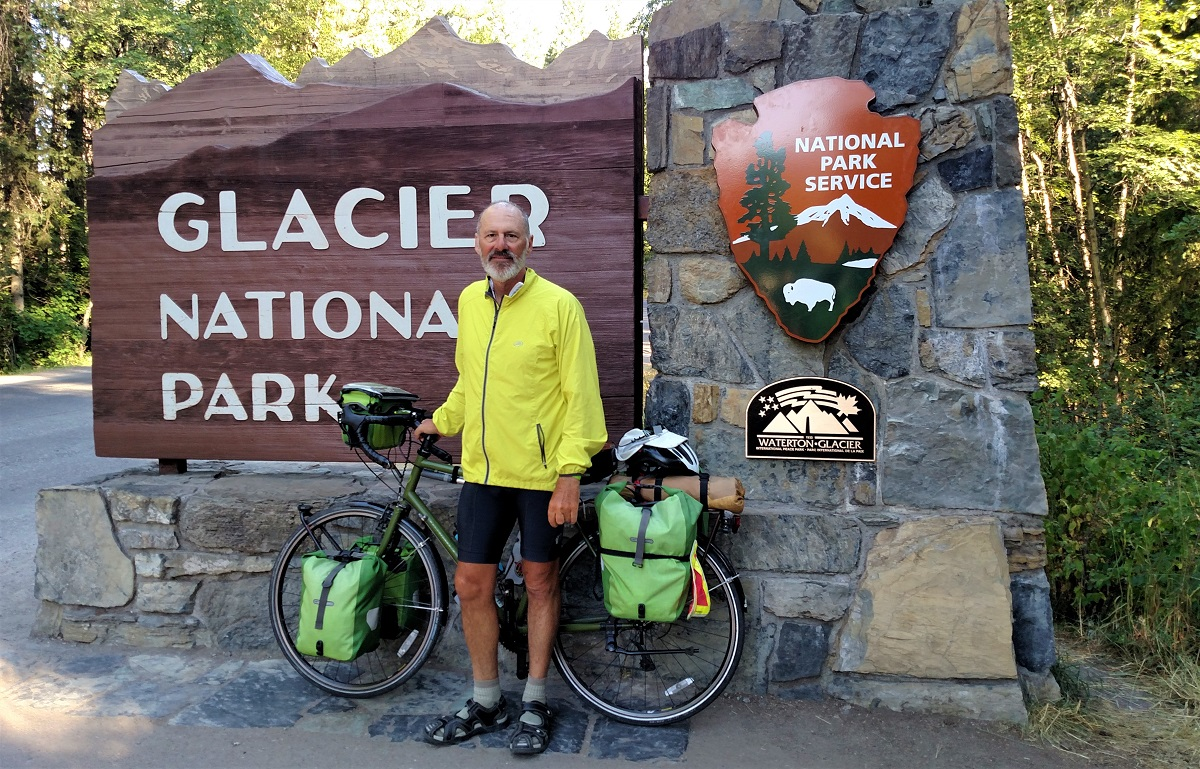Me, and The Green Machine visit Glacier National Park
